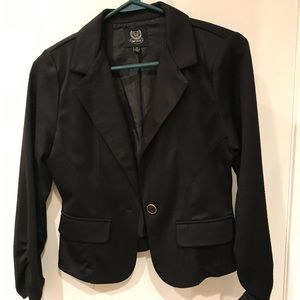 Black short blazer